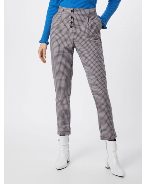 TOM TAILOR Chinosy 'checked loose fit pants Trousers 1/1'  beżowy / mieszane kolory