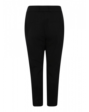 Lost Ink Plus Spodnie 'BLACK UTILITY COTTON PEG TROUSER'  czarny