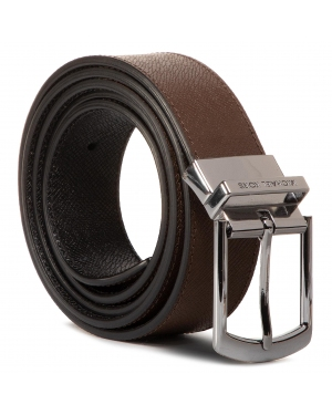 Pasek Męski MICHAEL MICHAEL KORS - 34Mm Ctfr Dress Belt 39H9LBLY1T  Mocha/Black