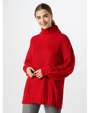 Lost Ink Sweter 'SUPER SLEEVE STITCH JUMPER'  czerwony