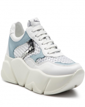 Sneakersy VOILE BLANCHE - Monster Mesh 0012013592.04.1N02 Bianco/Argento