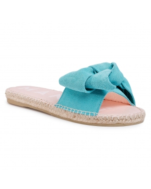 Espadryle MANEBI - Sandals With Bow M 3.6 J0 Aquamarine