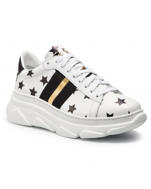 Sneakersy STOKTON - 650-D-SS19-UP Stelle Bianco/Nero