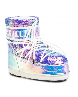 Śniegowce MOON BOOT - Mb Classic Low 50 Leather Holo 14089400001 Holo Glicine 001