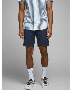 JACK & JONES Chinosy  niebieski