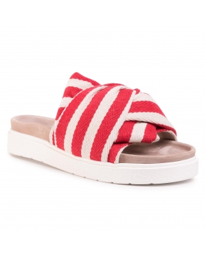 Klapki INUIKII - Women Knot Striped 70104-010 Red