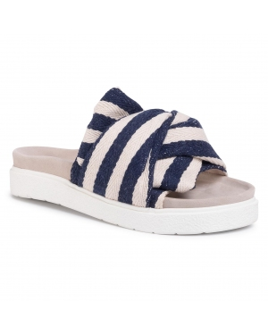 Klapki INUIKII - Women Knot Striped 70104-010 Blue