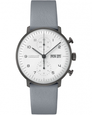 Zegarek męski Junghans max bill Black and White Automatic Chronograph