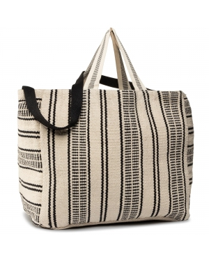 Torebka SEAFOLLY - Essential Stripe Beach Tote 71525-BG White/Blac