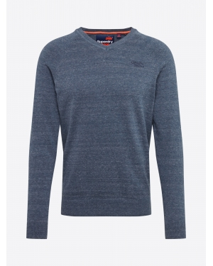 Superdry Sweter 'ORANGE LABEL COTTON VEE'  podpalany niebieski