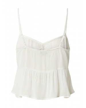 Miss Selfridge Top 'DT:IVORY RUCHED CAMI'  kremowy
