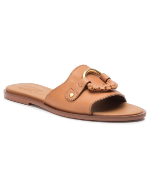 Klapki SEE BY CHLOÉ - SB33050A Natural Calf 518 Cognac