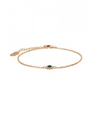 LILY AND ROSE Opaska 'Petite Miss Sofia bracelet - Emerald'  złoty
