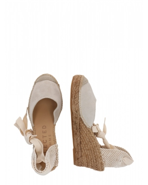SELECTED FEMME Espadryle  beżowy