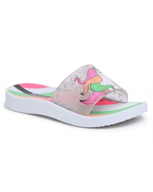 Klapki IPANEMA - Urban Slide Kids 26325 White/Clear Glitter 20897