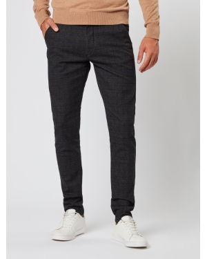 JACK & JONES Chinosy 'MARCO CHARLES CHECK AKM783'  czarny