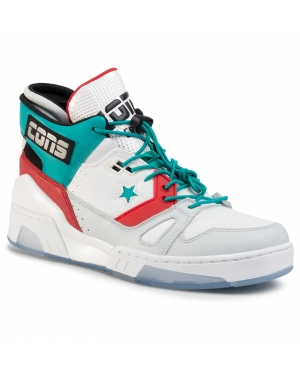 Sneakersy CONVERSE - Erx 260 Mid 165077C White/Turbo Green/Enamel Red