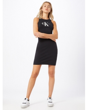Calvin Klein Jeans Sukienka 'MONOGRAM STRETCH TANK DRESS'  czarny