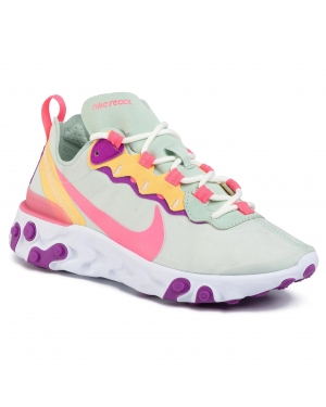 Buty NIKE - React Element 55 BQ2728 303 Pistachio Frost/Digital Pink
