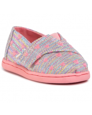 Półbuty TOMS - Classic 10015170 Pink Multi Heartsy Twill Glimmer