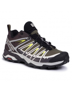 Trekkingi SALOMON - X Ultra 3 408143 27 M0 Burnt Olive/Shale/Acid Lemon