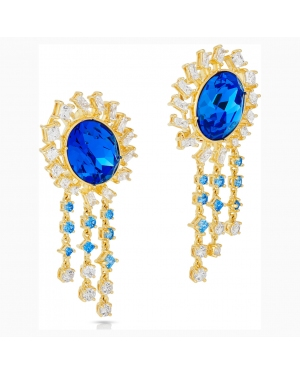 Penélope Cruz Icons of Film Pierced Earrings, Blue, Gold-tone plated