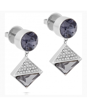 Karl Lagerfeld Geometric Pierced Earrings, Gray, Palladium plated