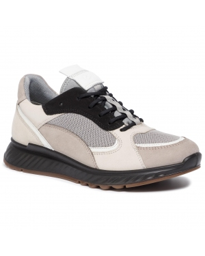 Sneakersy ECCO - St.1 W 83627351560  Moon Rock/White/Gravel/Black