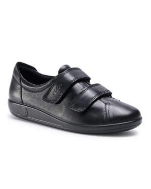 Półbuty ECCO - Soft 2.0 20651356723 Black With Black Sole