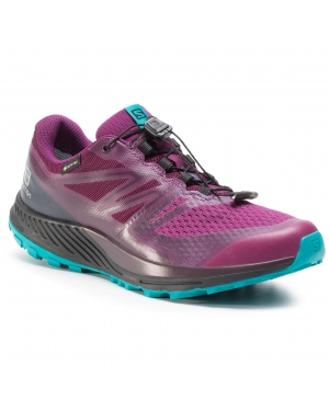 Buty SALOMON - Sense Escape 2 Gtx W GORE-TEX 407924 25 W0 Dark Purple/Black/Tile Blue