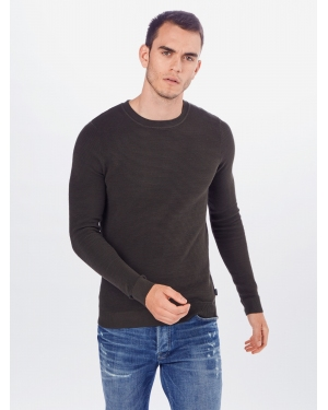 JACK & JONES Sweter 'ELIAM'  ciemnozielony