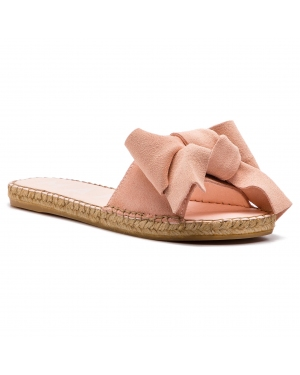 Espadryle MANEBI - Sandals With Bow W 1.4 J0 Pastel Rose Suede