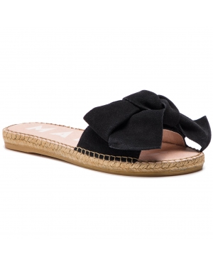 Espadryle MANEBI - Sandals With Bow K 1.0 J0 Black Suede