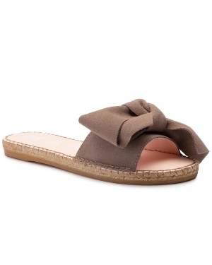 Espadryle MANEBI - Sandals With Bow K 1.9 J0 Taupe Suede