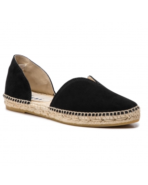 Espadryle MANEBI - Open-Side Flats K 1.0 O0 Black Suede