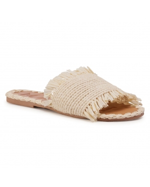Klapki MANEBI - Leather Sandals S 1.5 Y0 Natural Fringed