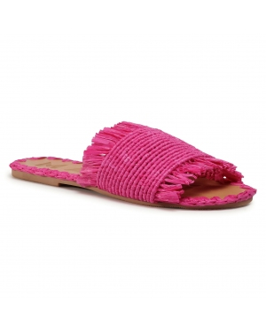 Klapki MANEBI - Leather Sandals S 1.7 Y0 Fucsia Fringed
