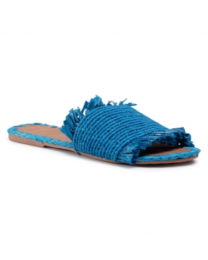 Klapki MANEBI - Leather Sandals S 1.9 Y0 Electric Blue Fringed