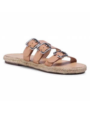 Espadryle MANEBI - Leather Sandals S 2.0 Y0 Natural W Triple Buckle