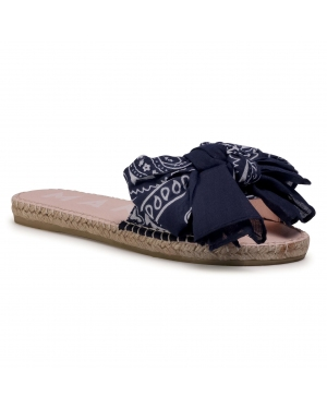 Espadryle MANEBI - Sandals With Bow F 9.6 J0 Navy Bandana