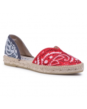 Espadryle MANEBI - Open-Side Flats F 9.4 O0 Red Grey Bandana