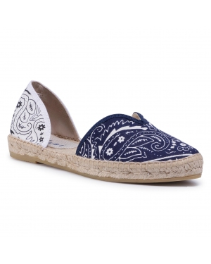 Espadryle MANEBI - Open-Side Flats F 9.6 O0 Navy White Bandana