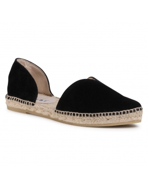 Espadryle MANEBI - Open-Side Flats K 1.0 O0 Black 1