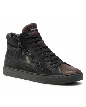 Sneakersy CRIME LONDON - High Top Double Zip 11687AA3.20 Black