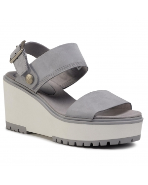 Sandały TIMBERLAND - Koralyn 2 Band Wedge TB0A26SQ050 Md Grey Nubuck