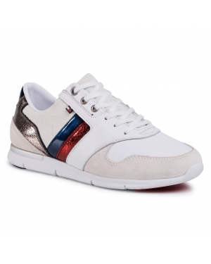 Sneakersy TOMMY HILFIGER - Leather Light Sneake FW0FW03554 Rwb 020