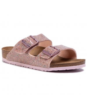 Klapki BIRKENSTOCK - Arizona Kids 1017384  Cosmic Sparkle Rose Multi