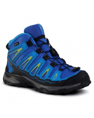 Trekkingi SALOMON - X-Ultra Mid Gtx J GORE-TEX 390294 12 W0 Blue Yonder/Bright Blue/Granny Green