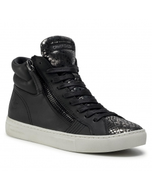 Sneakersy CRIME LONDON - High Top Double Zip 25671AA3.20 Black