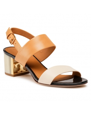 Sandały TORY BURCH - Gigi 50Mm Sandal 74444 Elba Camello/New Cream 264